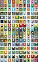 daily characters by striffle