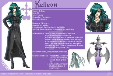 Xelleon chara sheet by Berylunee