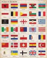 Flags of Europe ca. 1920 by Regicollis