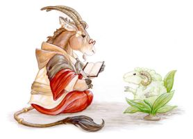 Eland and the Vegetable Lamb by ursulav