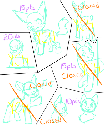 YCH's - 10-50 pts!!! by SamMeows