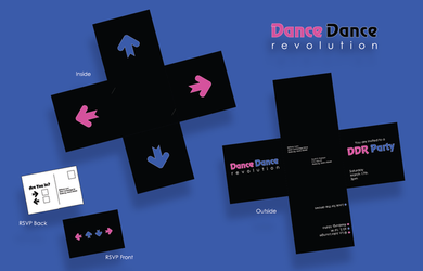 DDR Party Invitation by TheQuietWriter