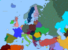 Basic map of Europe by DinoSpain