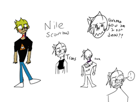 Oc ref sheet Nile by ComicCreatorgamer123