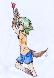 Lyserg-doggie with Butterfly by FujisakiNagi