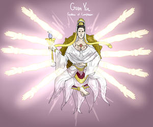 Smite Concept - Guan Yin, Goddess of Compassion by Kaiology