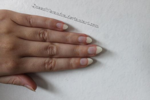 Natural almond shaped nails reference stock by QueenWerandra