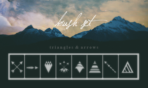 Triangles and arrows by Sixxtear