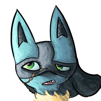Curio (Lucario) is conflicted. by StarlightCrux
