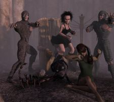 Dawn Of  The Dead by 3dcheapskate