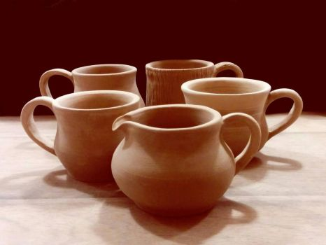 Pots and mugs by LussyLion