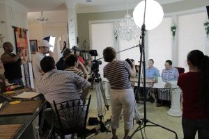 Filming for 'Nana's Brunch' by Perez2407