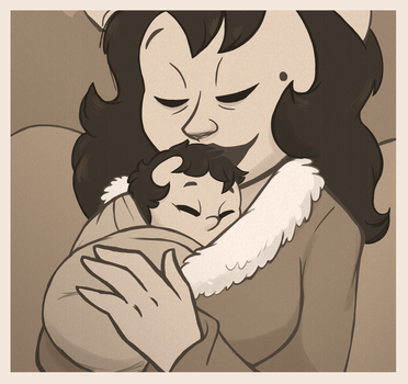 Alice and Baby Luna by 9CentsChange