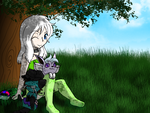 chillin under a tree commish by ThaMutt