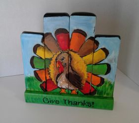 This is a 2 for 1 Thanksgiving and Christmas Decor by sweetpie2