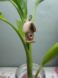 Tuesday Bird house Pendant by queencymae