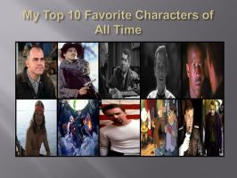 Favorite Characters of All Time by Mike-B-Kittson