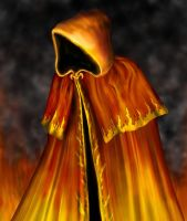 Quest Cards - Flame Cloak by hwango