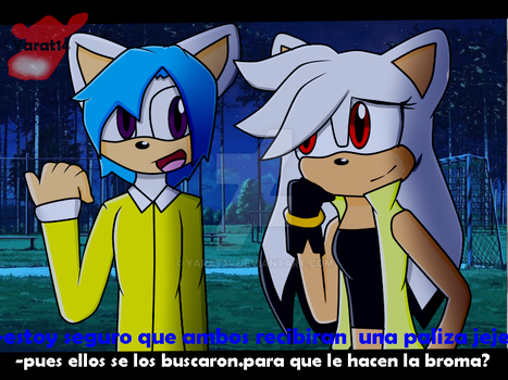 intento -Lady Patry y Fer the hedgehog by yarat14