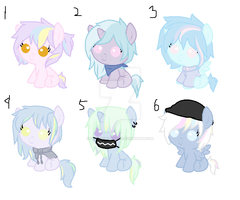 Adoptable Batch #1 50 POINTS EACH (OPEN 3/6) by BluePonyAdopts