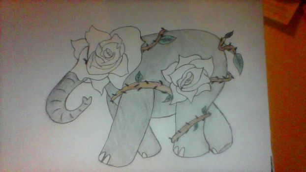 Roses and Elephant by Pokergirl97
