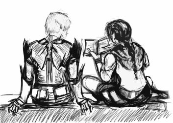 Fenris and Hawke - The Friends They Became by nomibubs