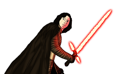 Kylo Ren in The Last Jedi (Unmasked) by Jones6192