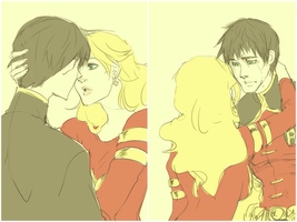 robin and wonder girl by 021