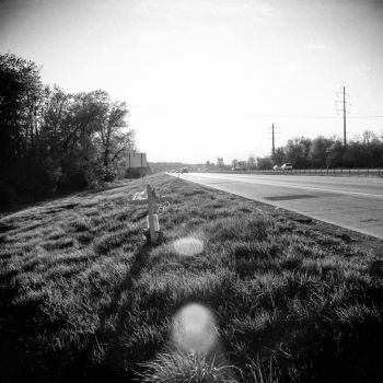 Roadside Memorials: Gene Snyder Freeway, 5 by aymiah