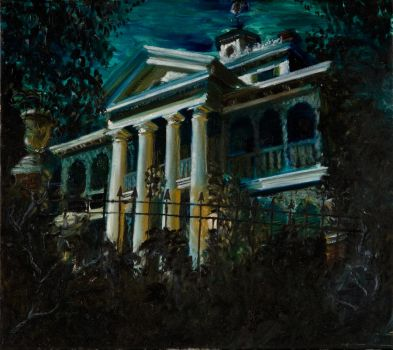 Haunted Mansion Painting by yensidtlaw1969