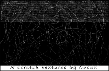 3 Scratch Textures by Cocax