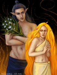 Melkor and Arien  2 by AncksiestasInh