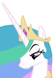 Unimpressed Celestia by The-Smiling-Pony