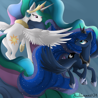 Celestia And Luna - Forever synced by DreamyArtCosplay