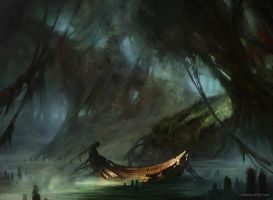 Swamp (Normal Innistrad) by AdamPaquette