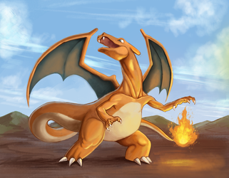 #6 Charizard by marinasanc