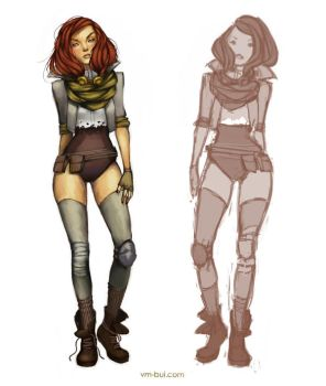 Character Design: Steampunk Pilot by vmbui