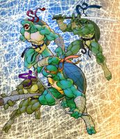 Teenage Mutant Ninja Turtles by Cloudbourne