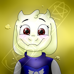 undertale-toriel(made with the mouse) by Gagiass1545