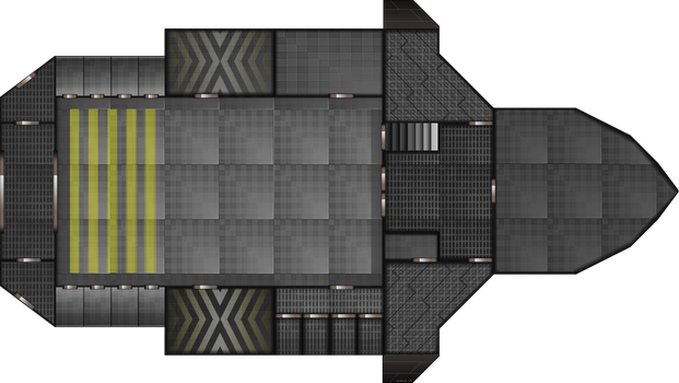 Ship Layout: Free Merchant 1st Floor by Mysticara