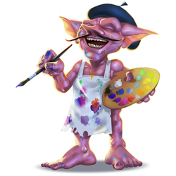 The Artist Goblin for FG Card Game Campaign by thedarkcloak