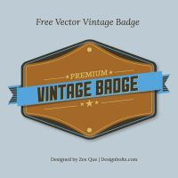 Free Vector Premium Vintage Badge by Designbolts