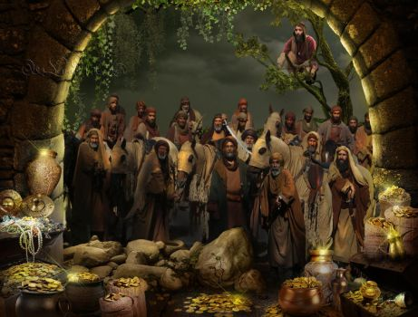 Ali Baba And 40 Thieves by LenaNik