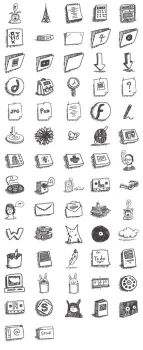 Sketchy icons by mathilde