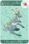 Arecacen Creature Cards: Brawler Hare by Chikara-Redwing
