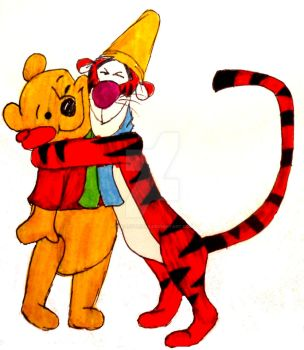 Tigger and Pooh by InkArtWriter