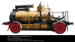 Steampunk Vehicle By Cindysart-stock by CindysArt-Stock