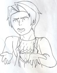 Miles Edgeworth drawing by MinuanoGS