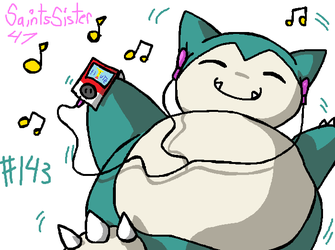 #143 Snorlax by SaintsSister47
