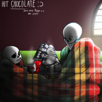 [Undertale] Hot chocolate w/ Sans and Papyrus by Zimandchowder4evr